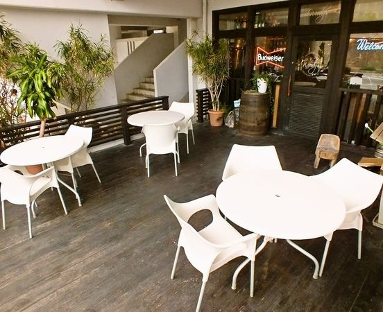 Terrace seating is available up to 3 tables.You can taste a different atmosphere than usual!