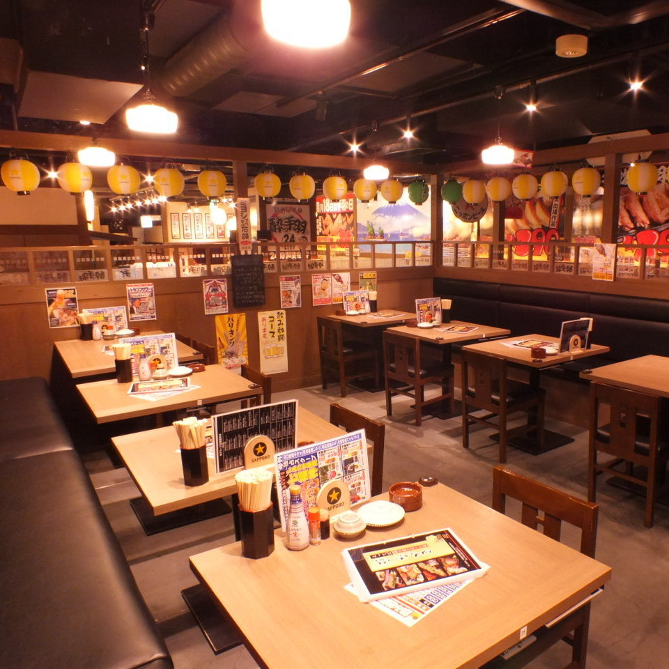 テーブル席は2名~30名まで座れます!!会社宴会にも仲間内での飲み会にご利用ください!喫煙もOK!