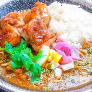 香料咖喱枣鸡肉照烧鸡肉ver
