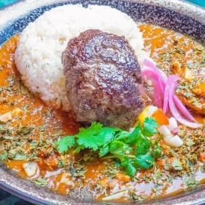 香料咖喱100%牛肉汉堡包ver