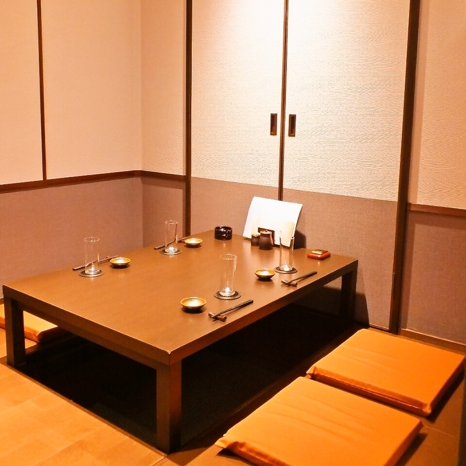 【Partition is popular for drinking party etc.】 Recommended seats for small gatherings etc. There are table seats, Oshiza seats, digging tatami mats etc!