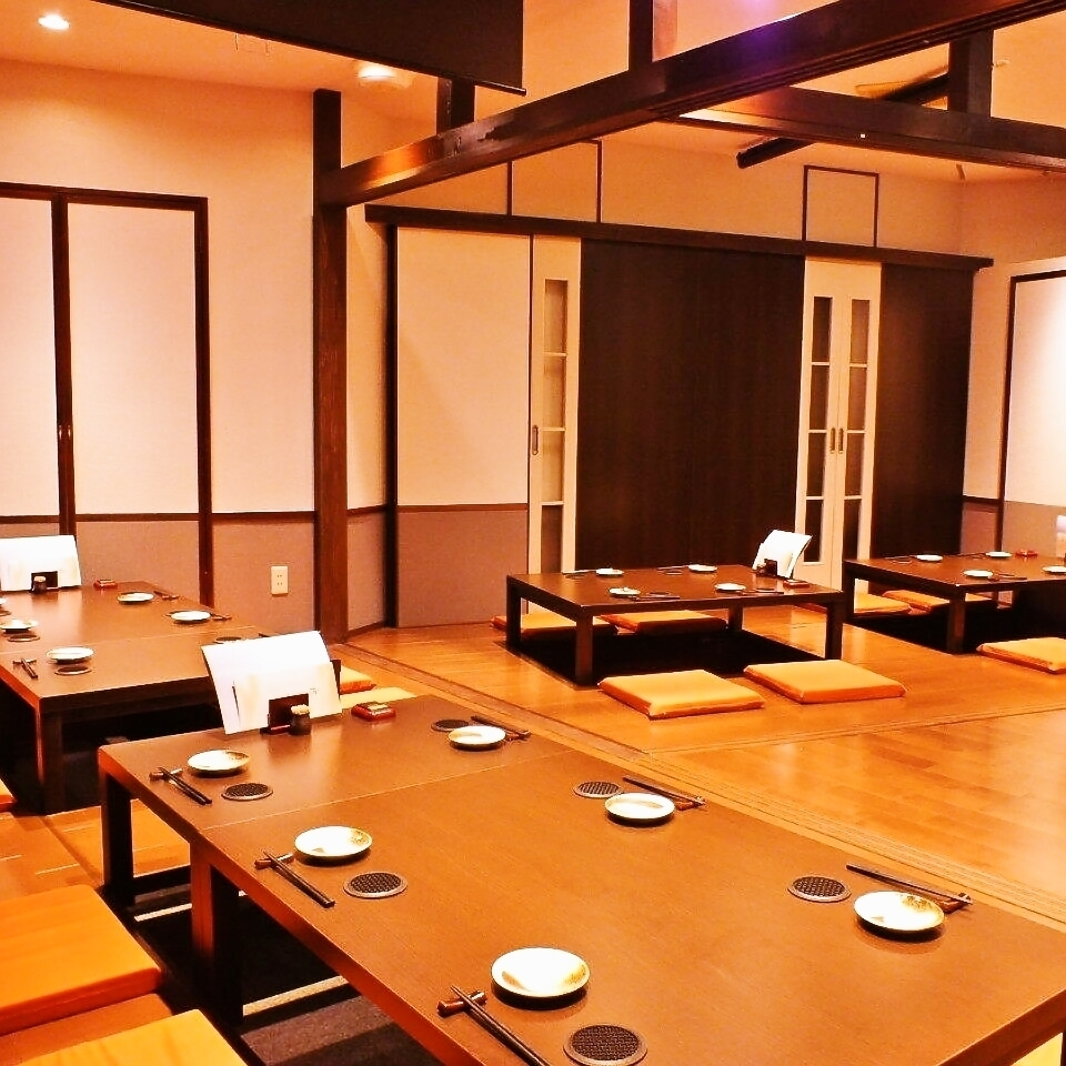 【If you connect individual rooms, you can change from small people up to 30 guests to a private room of OK】 Year End Party, New Year's party, Farewell Party Association, Cooling Society etc ... Usable shop at any banquet all year round 【Lights 】