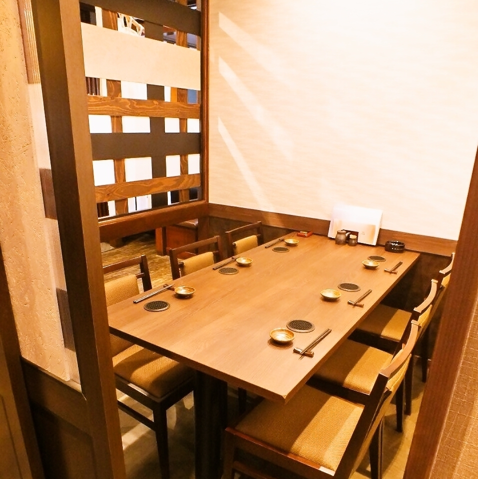 [To customers who do not want to take off their shoes ...] The table seats are glad.I do not want to take off rainy days or boots ... Recommend a table seat for such a day.Because it is partitioned in a single room style, you can enjoy it without worrying about surroundings.