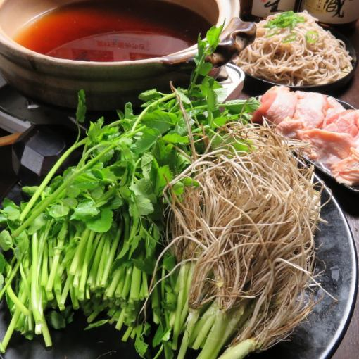 【Nabe course】 Sendai specialty chicken paste with a pot 7 items 【120 minutes drinking attachment】 4500 yen → 3000 yen