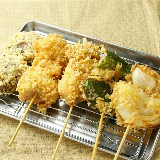 5 specially made skewers deep-fried