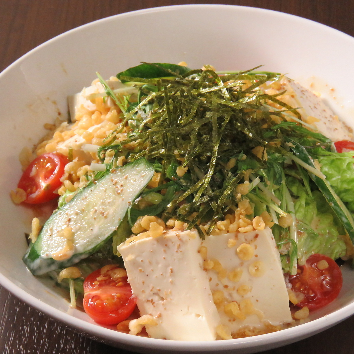 Raccoon tofu salad