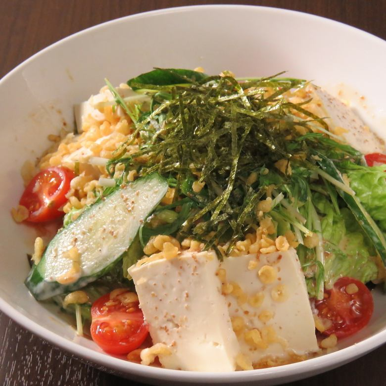 Raccoon tofu salad
