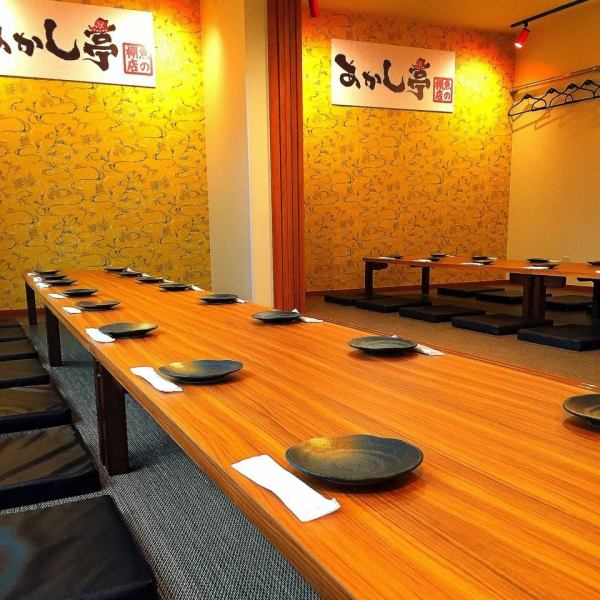【Corresponding to various large banquets including company banquet / regional gatherings】 2nd floor banquet seat.Prepare banquet seats for up to 32 people.We can party from 4 to 16 people.There are 32 banquet seats in the back.There is also a fully-private room ideal for entertainment.For details, please contact the store.