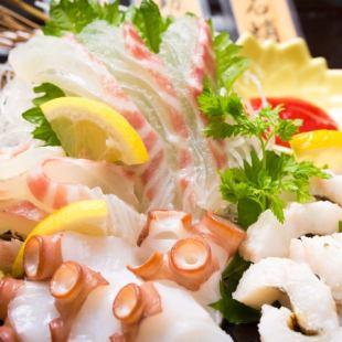 «所有的7道菜»Akashitei Uonotana与120分钟得心应手当然,所有你可以喝[4000日元套餐]