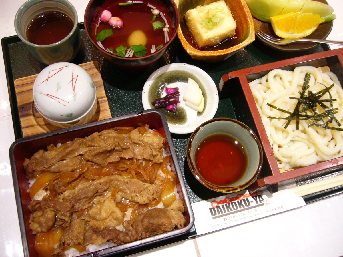 Sukiyaki no heavy noodles set