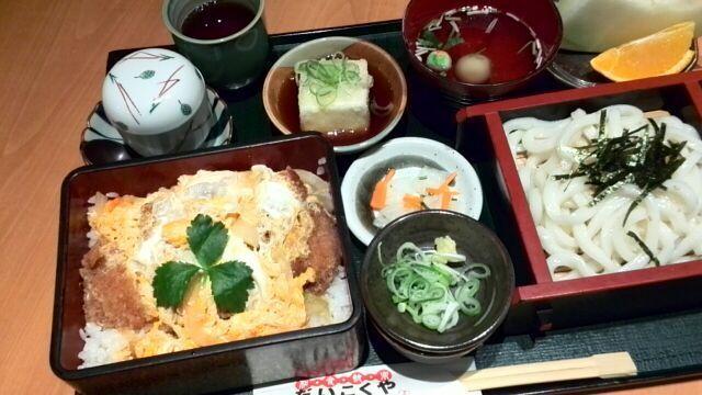 Katsu heavy rice noodles set