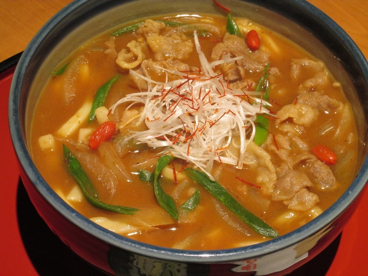 Warm throat Himi beef curry udon