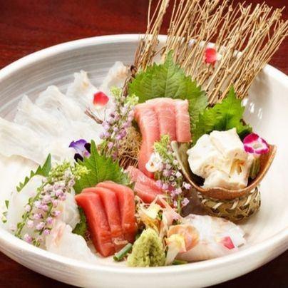 珍贵的生鱼片