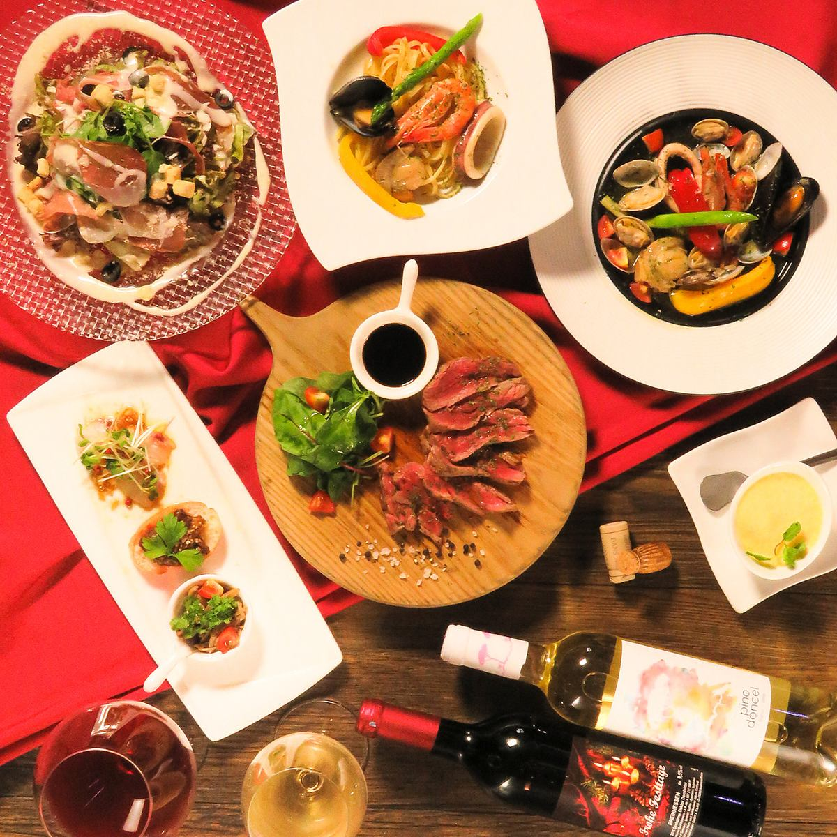 On that day OK! 【No.1 popularity rating】 7 dishes and 2 h recommended drinks with chef 'A' 4500 yen (tax excluded)