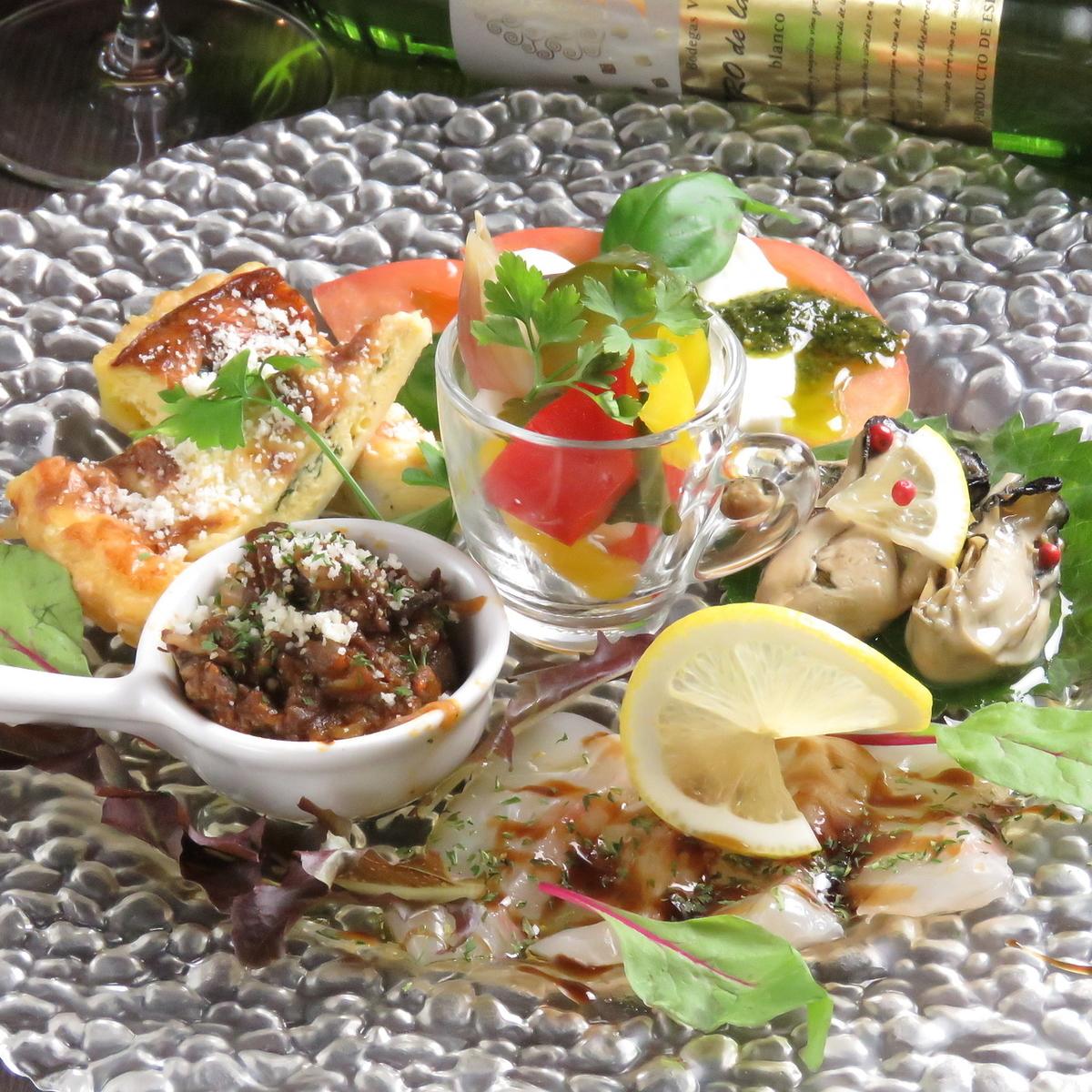 Chef's異想天開的開胃菜什錦盤(5件物品)