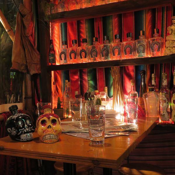 【涼しい日にはテラス席でも快適☆外で楽しくビアガーデン気分◎♪】サルサカバナでは、本格メキシカン料理を味わいながら外で楽しむ事ができます!中野 居酒屋 個室 女子会 誕生日 貸切テラス席でメキシカン♪お酒とホットな料理で体も暖かくなること間違いなし!テラス席でメキシカンビールやテキーラでお楽しみ下さい!