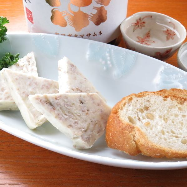 "◆ Unexpectedly extended hands to sake ""Specialty Pate with Three Types of Cheese"" ◆ A rich taste becomes a habit"