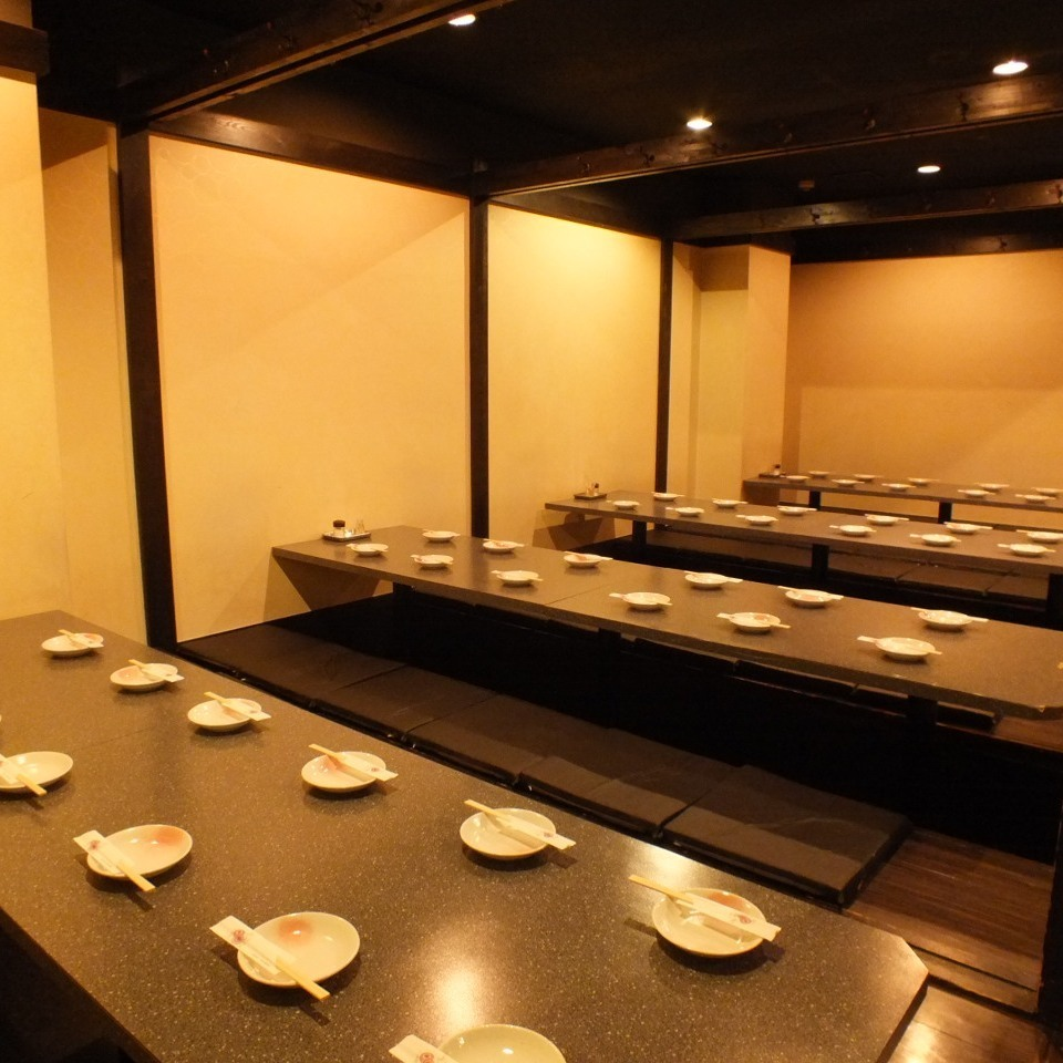 48 people or more in private room 【Maximum 80 people】 ★
