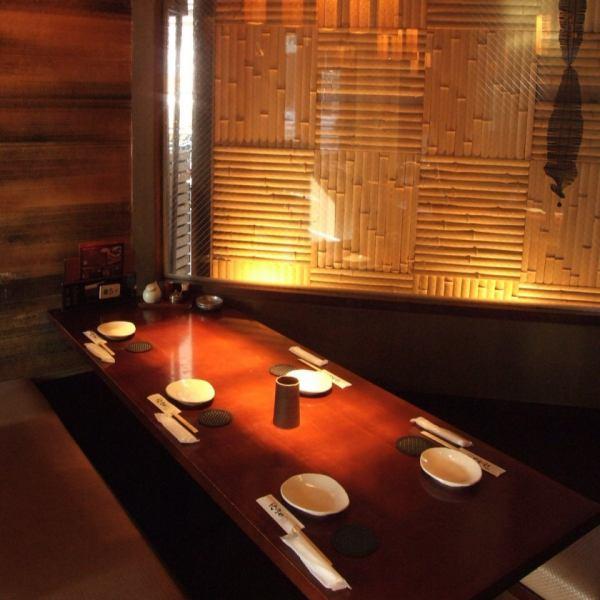 일본식 모던 공간이 자랑.신발을 벗고 편히 쉴 리고 타츠는 4 명부터.느긋하게 맛있는 술과 맛있는 안주를 제공합니다.