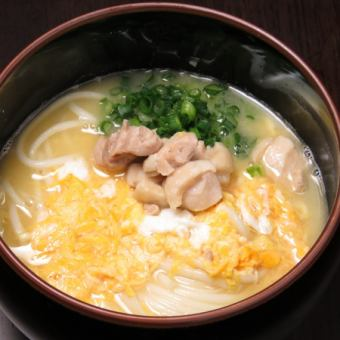 Chicken, parent and child udon (kake)