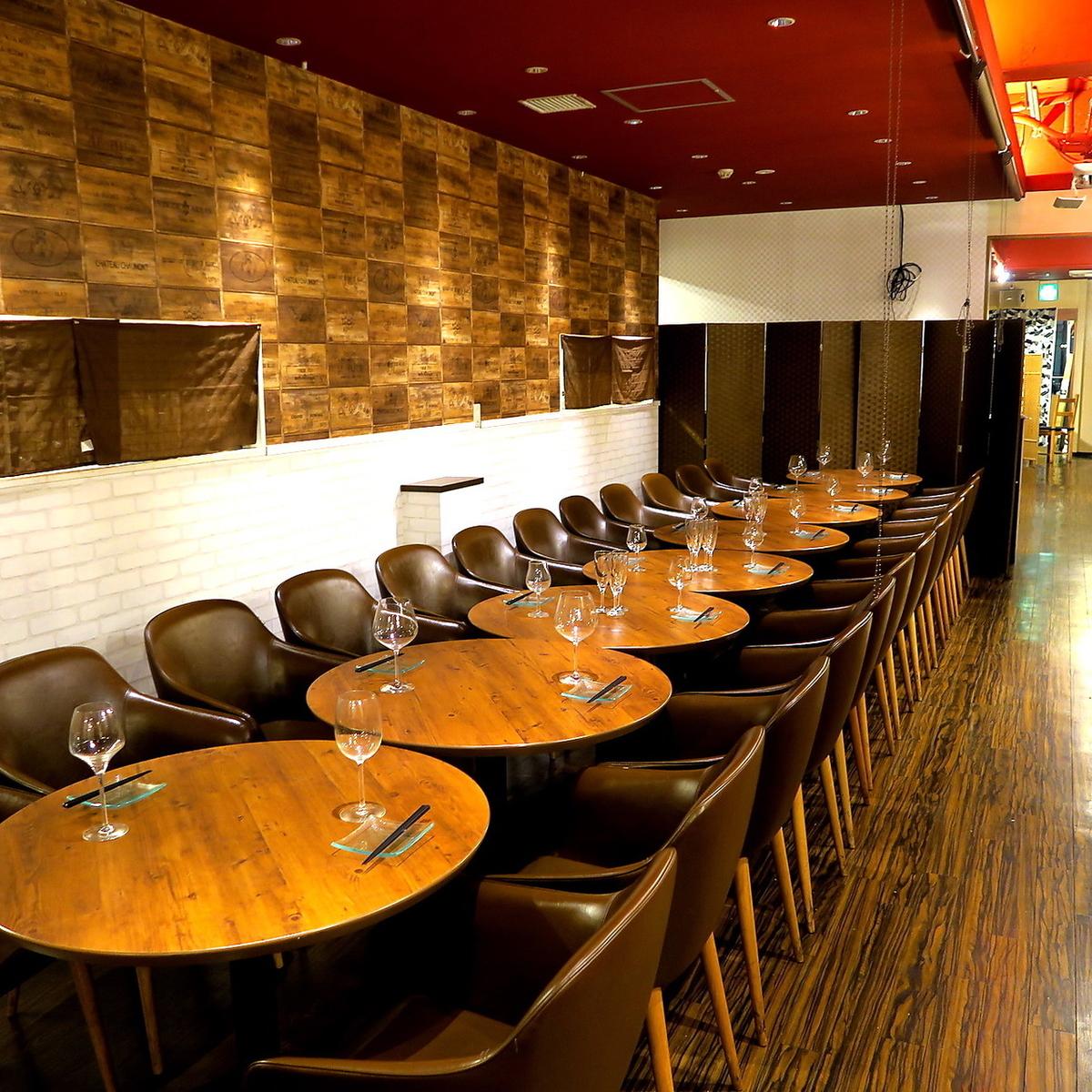 寬敞的座位也可供團體使用。請將它用於公司的各種宴會!請在細心的空間享用美食!請不要猶豫與我們聯繫。