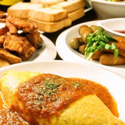 【學生限定計劃】7餐+ 2小時飲用☆⇒2,500日元!所有你可以吃延長飲用的土豆炒!