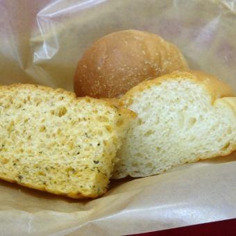 Homemade bread 3 varieties