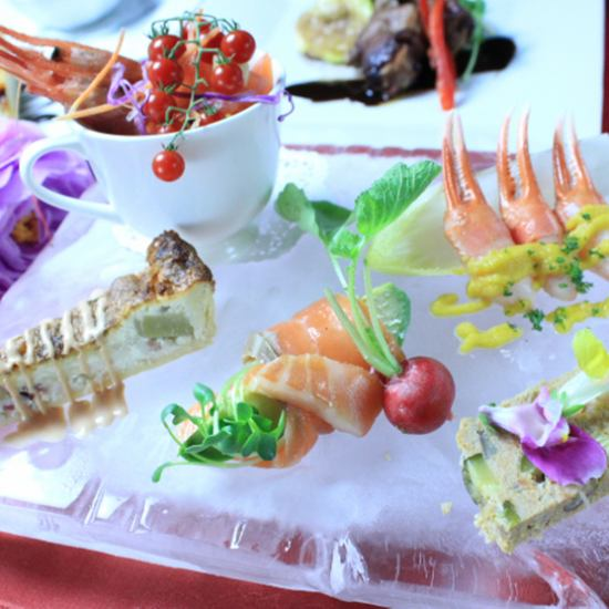 [Celebrity lunch course] All 6 items 2500 yen.Recommended for relaxing lunch