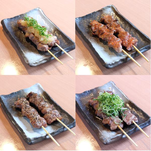 最強の牛串 (塩コショウ/一味塩/おろしポン酢/ねぎだく)
