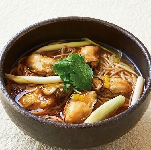 牡蠣Nambari蕎麥麵<溫暖>