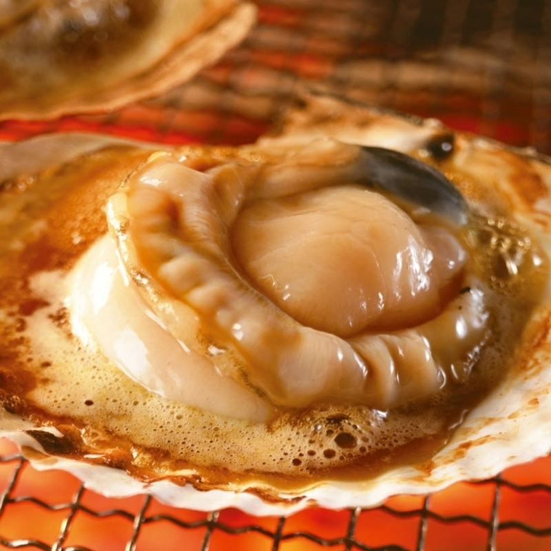 【Hokkaido Yubetsu】 Activated scallop iso-grill ※ You can bake butter for + 50 yen (tax excluded).