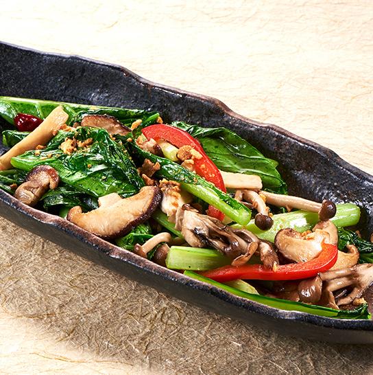 【長野縣中野市/飯田市】炒蘑菇和綠色蔬菜