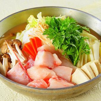 1/1 ~ 【New Spring Special Course】 Hokkaido direct delivery Ananko hotpot course <7 dishes> Including free drinks Special price 4000 yen