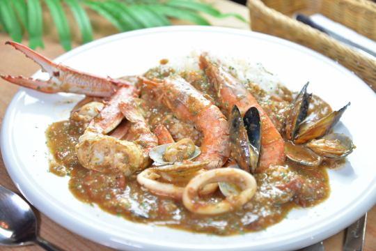 海鲜浓汤饭