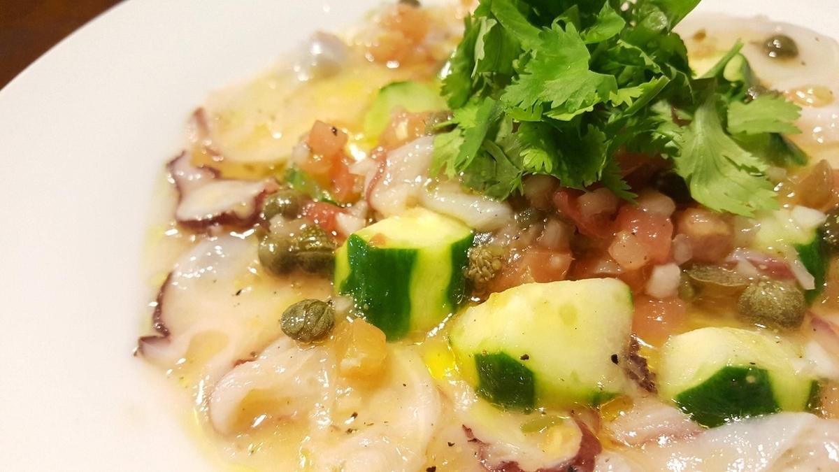 章魚酸橘汁醃魚