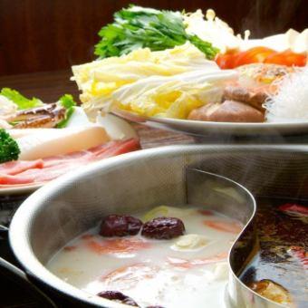 ★中國任吃自助餐+火鍋★3200日元!!★所有你可以吃中國+悠閒鯊魚鰭1人⇒4000日元!!