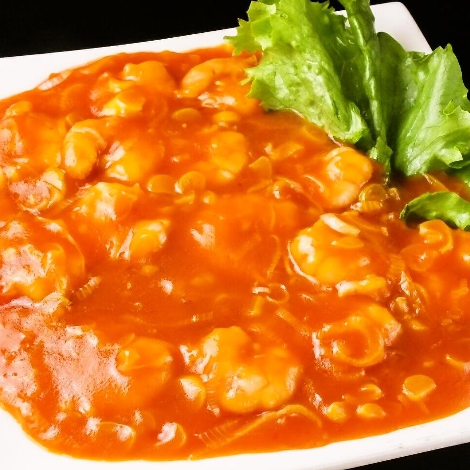 Ebichiri sauce / oyster teppanyaki