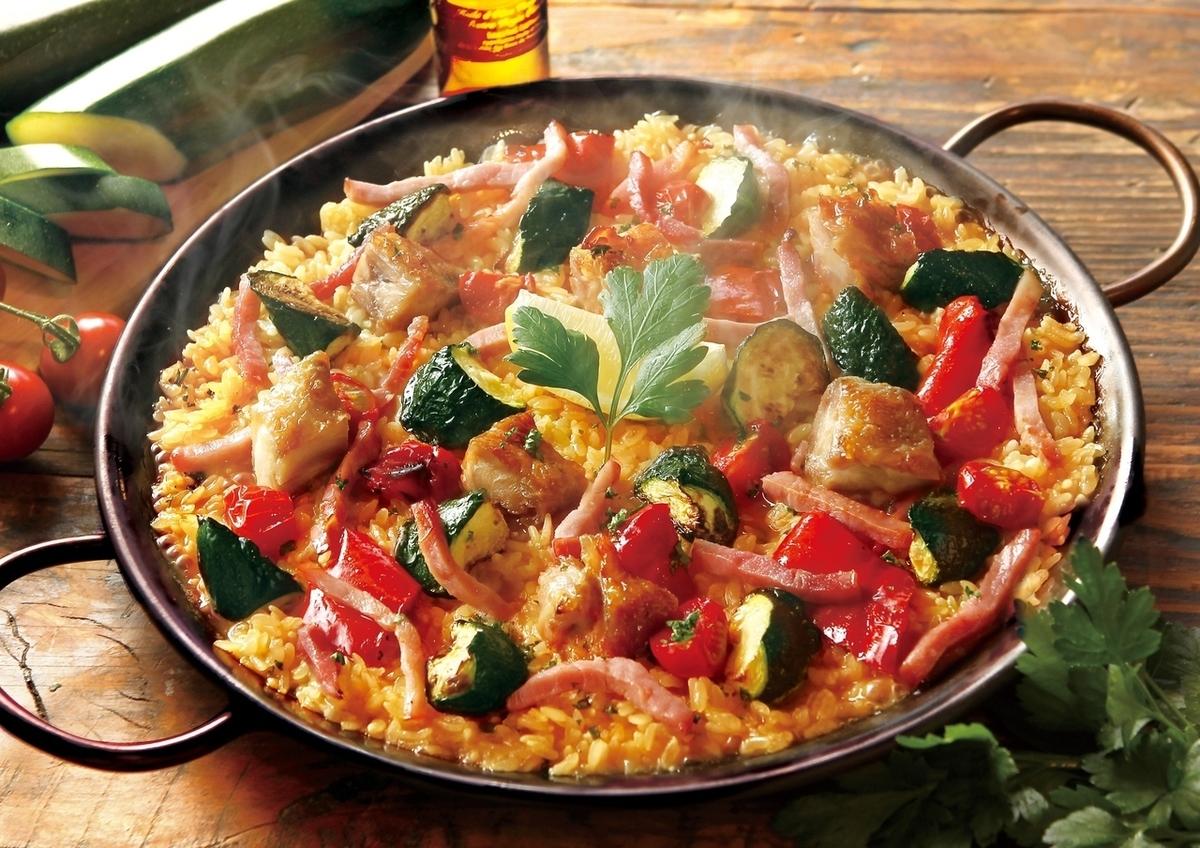 Paella of chicken