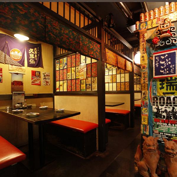 スタッフ全員で飾り付けをした店内は沖縄気分満点♪ゆったりとした時間を過ごせる空間作りになってます☆