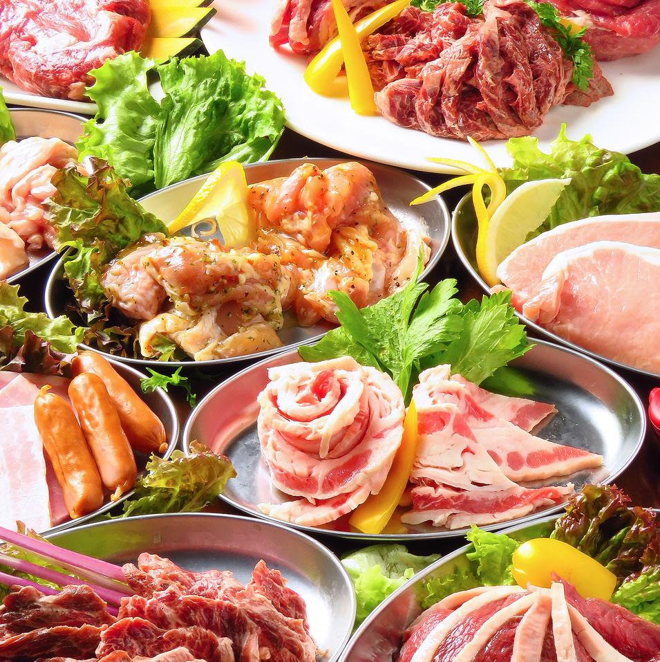 最大23種のお肉が食べ放題!