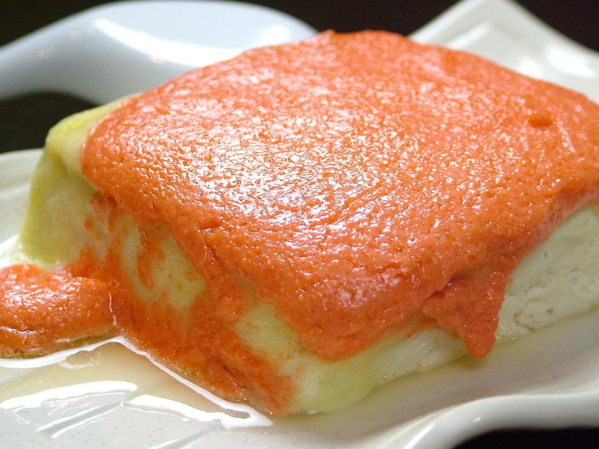 Tofu mentaiko cheese grill