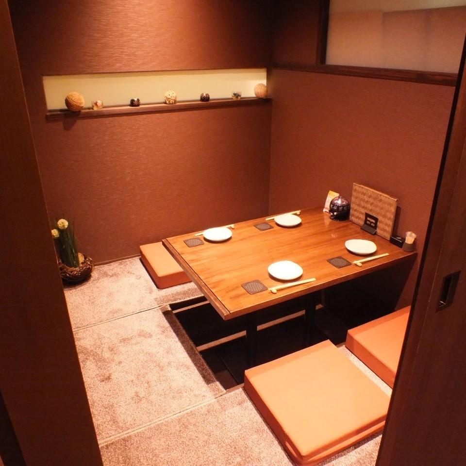 """私人房間可以是3到10人OK我們準備私人房間,非常適合各種宴會。如果您想在Nishi Umeda享用私人晚宴,您絕對可以擁有""""Japanese Shokuei""""!日式私人房間,可用於娛樂★我們也有包房和團體的私人房間。"""
