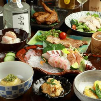 【2H drinking attachment】 Sho course ■ ◆ Sushimi sweet soy sauce Koji-yaki etc. Popular gems are gathered! «All 10 items» 5000 yen