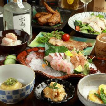 【2H饮用附件】Sho套餐■◆Sushimi甜酱油Koji-yaki等热门宝石聚集!«共10件»5000日元