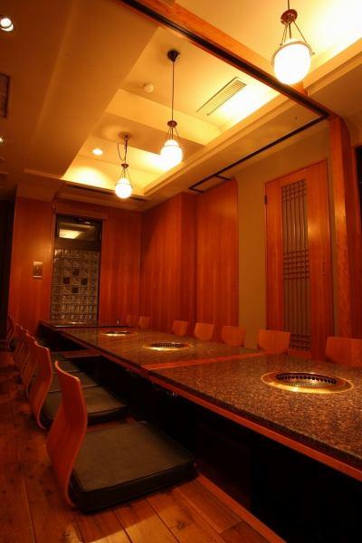2名様から24名様までの堀ごたつ個室はお食事会や宴会、記念日などに最適です。