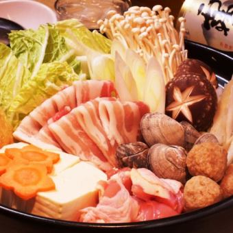 All-you-can-drink hours unlimited ★ 10 kinds of hot pot selection course 3000 yen