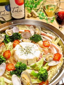 Unlimited drinking time Unlimited ★ Spicy addiction ♪ Camembert Mille-feuille Nabe course 4000 yen → Sun ~ Three is 3500 yen!