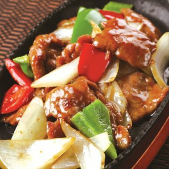 Stir fried beef with oyster sauce