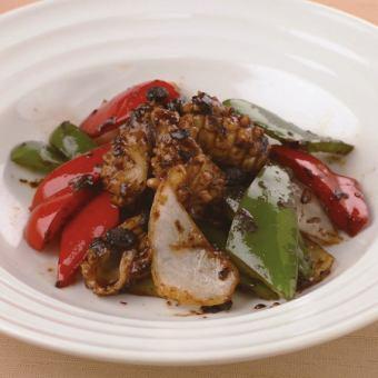 黑豆醬炒魷魚