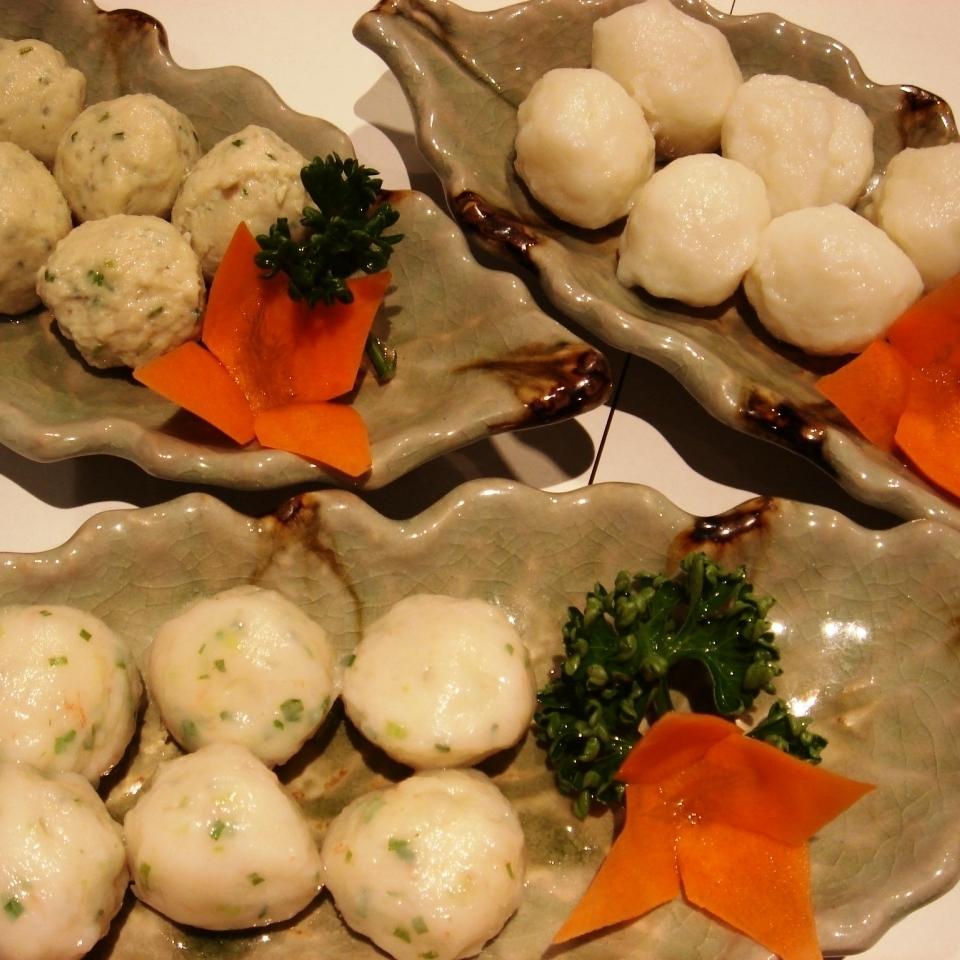 Shrimp dumplings / Squid dumplings / Chicken meal dumplings